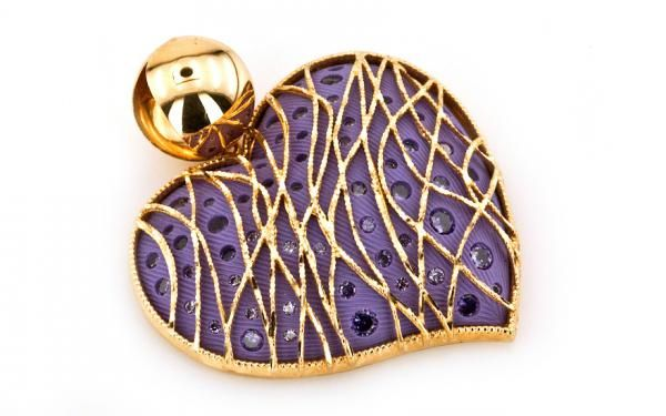 """Zlatý prívesok od luxusnej značky Pomi ,,purple heart"""" žlté zlato"""