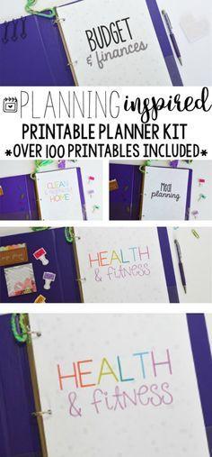 50% OFF Household Binder Set, Household Planner, Printable Planner Kit, Budget Planner, Meal Planner, Mom Planner, Home Organization  #Affiliate