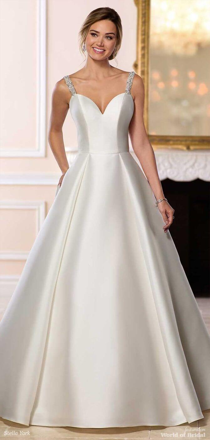 bb2164deaae Stella York Spring 2018 Simple Ballgown Wedding Dress
