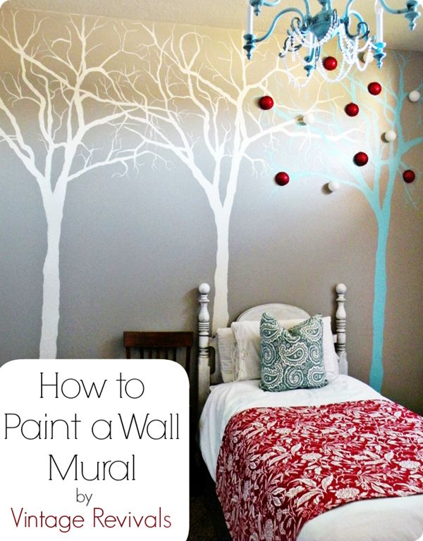 Art Neat Tree Wall Painting Crafting For The Home