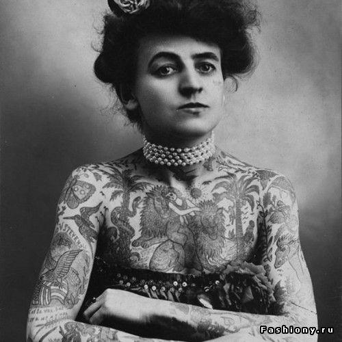 Восхитительные винтажные татуировки XIX века