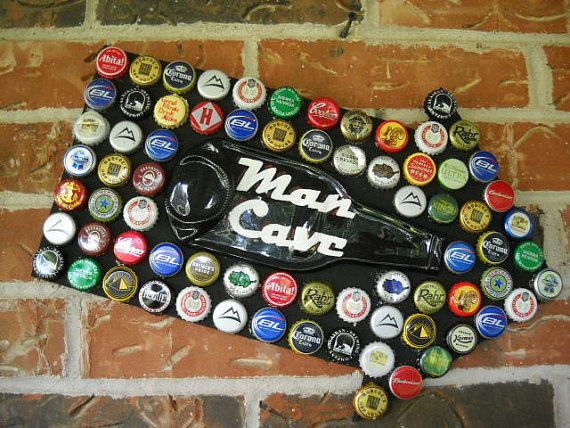 Hey, I found this really awesome Etsy listing at http://www.etsy.com/listing/159737453/man-cave-sign-beer-bottle-caps-mosaic