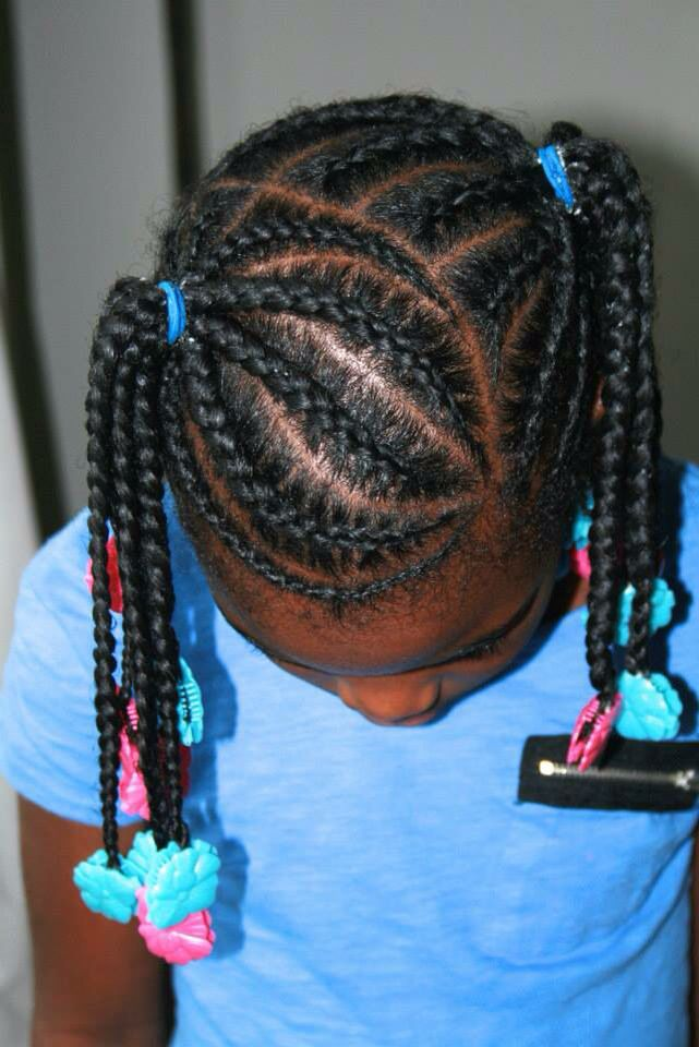 Beautiful braided pigtails and hair inspiration by The Fro