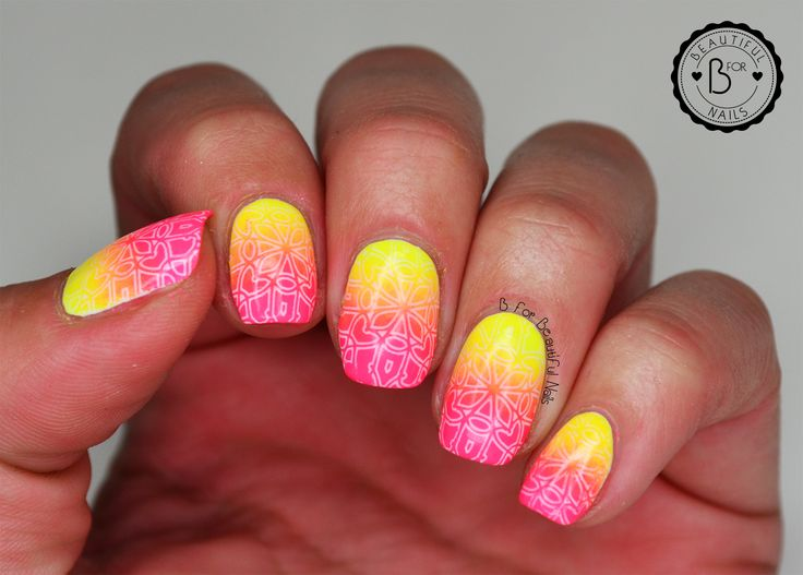 Neon gradient stamping with Orly PCH ♥ | BforBeautifulNails