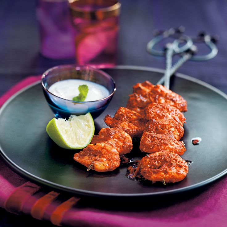 Indian recipes on womanandhome.com Tandoori marinated prawns with raita - Woman And Home | Mobile