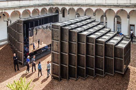 Annabel Karim Kassar's telescopic pavilions brought a taste of Lebanon to Milan.