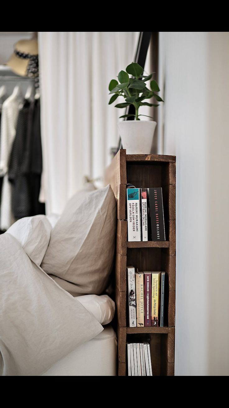 Love this idea, but I would create a padded headboard to attach & soften