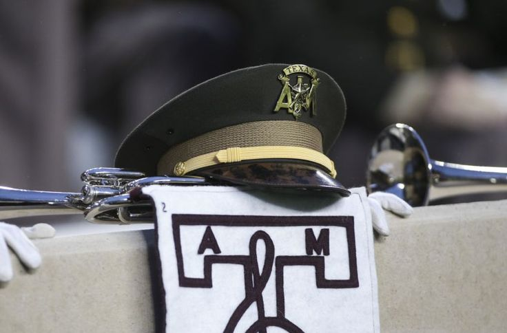 Nov 7, 2015; College Station, TX, USA; General view of a Texas A&M Aggies corps of cadets hat before a game against the Auburn Tigers at Kyle Field. Mandatory Credit: Troy Taormina-USA TODAY Sports