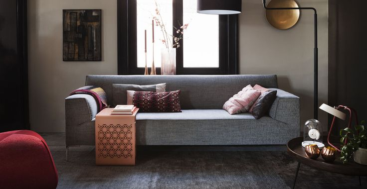 """Bloq"" couch by Design on Stock. Leaning towards this or something similar in dark blue!"