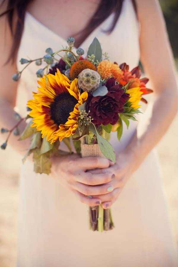 November Wedding Bouquet Bridal Bouquets Fall Flowers Arrangements, sunflowers