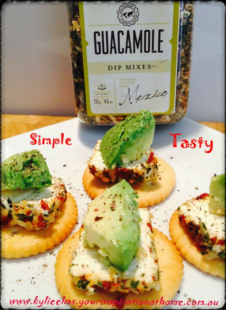 Yummy Light Lunch with YIAH Guacamole Dip Mix Just one of our amazing Taste Of Mexico products.. See them all at www.kylieelms.yourinspirationathome.com.au