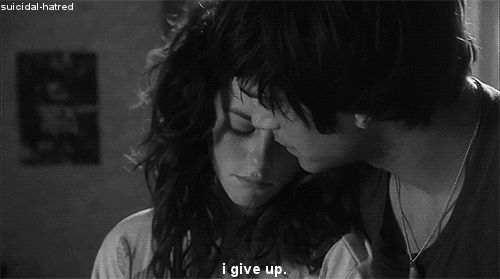 depressing quotes about giving up | depressed depression sad pain tired UP skins uk over effy done Skins ...