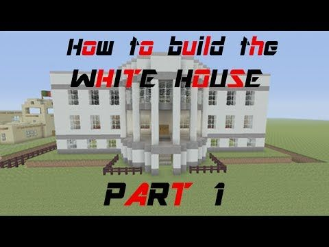 ▶ Minecraft Tutorial: How to build the white house (part 1) - YouTube