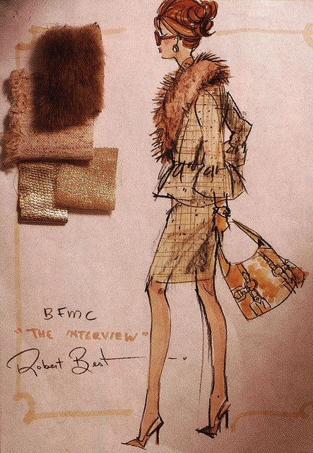 Robert Best sketch. Fashion Design sketches.