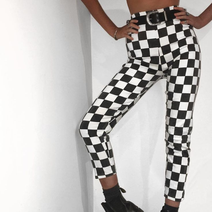 """878 Likes, 44 Comments - Vintage Apparel (@nine.co) on Instagram: """"Funky checkered pants Size 8-10 or 6 with a belt $5+ ⭐️"""""""