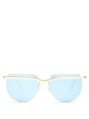 Mafia Moderne flat-top sunglasses  | Le Specs | MATCHESFASHION.COM US