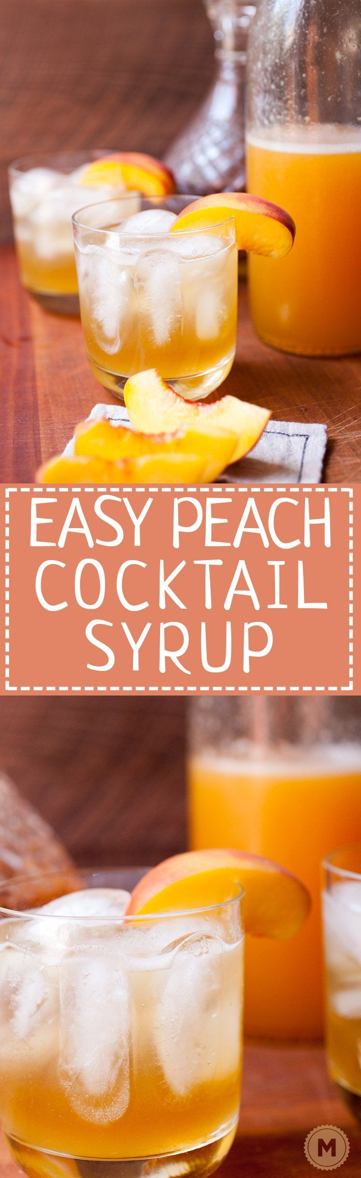Easy Peach Cocktail Syrup: Just three ingredients (plus a pinch of salt) is all…
