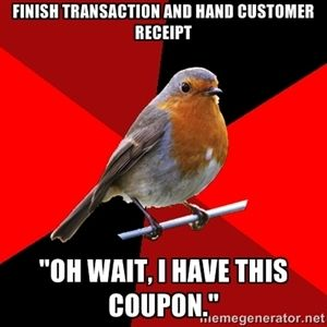 Retail Robin. Happened the other day to me and it took over 15 minutes to sort everything out!!