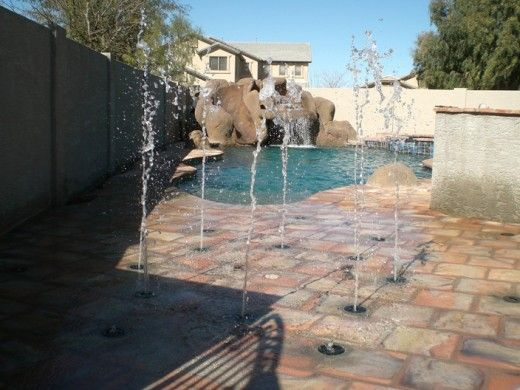 Back Yard Splash Pad Pool