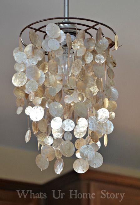 Capiz pendant light tutorial  www.whatsurhomestory.com
