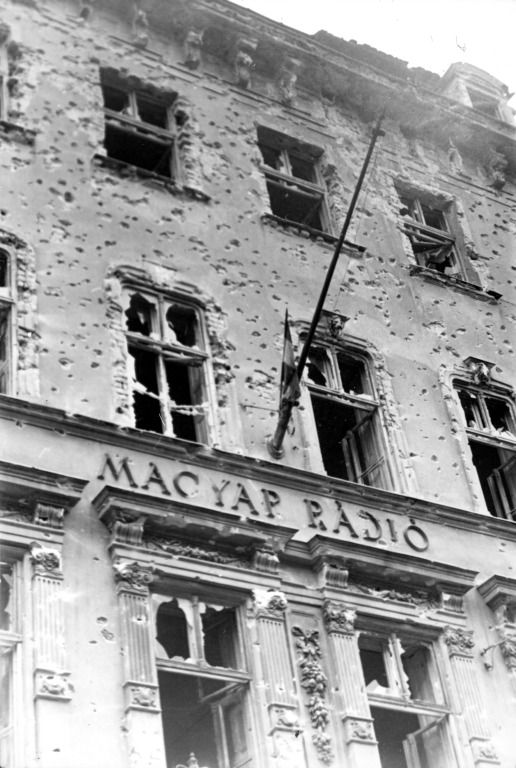 A Magyar Rádió épülete | The building of the Hungarian Radio #revolution #1956 #hungary #houseofterror #communism #radiostation #war