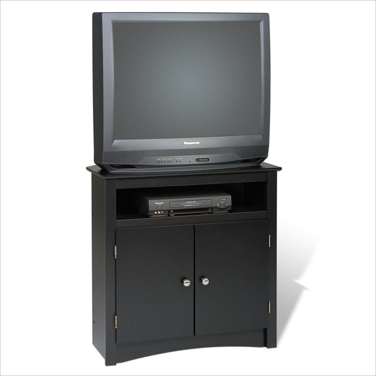 "Prepac Sonoma 32"" Tall Corner TV Stand in Black - BTV-3232"