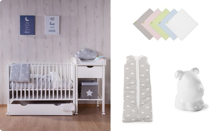 Looking inspirations for #small #nurseries. See Funique's new modern #cot with drawer and #changing unit. Perfect for cosy limited baby bedrooms. Great choice when you have to share the bedroom with your little one. Buy #nursery and #baby #furniture online at http://funique.co.uk