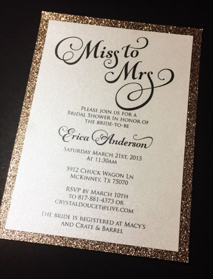15 mustsee Bridal Shower Invitations Pins – When to Send Wedding Shower Invitations