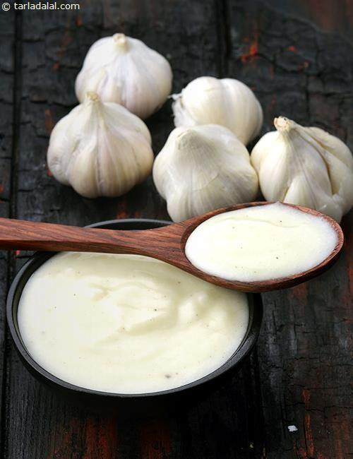 Lebanese Garlic Sauce recipe   Lebanese Recipes   by Tarla Dalal   Tarladalal.com   #22579