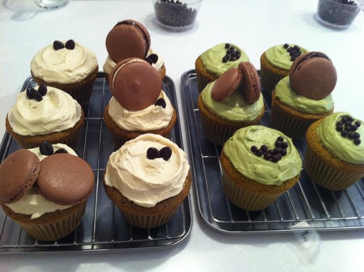 Coffee buttercream cupcake & Greentea buttercream cupcake~ creamy and fresh~ by Jennifer
