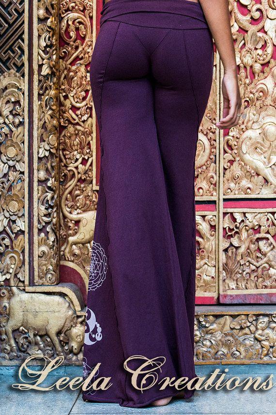 Uitlopende hippie broek. Playa kleding door LeelaCreationsBali