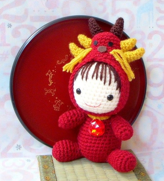 Amigurumi Zodiac Pattern - Zodiac Dragon Baby - Crochet tutorial doll ...