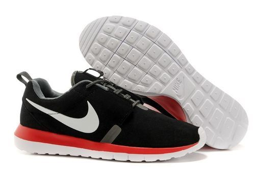 Nike Roshe Run Black Red White