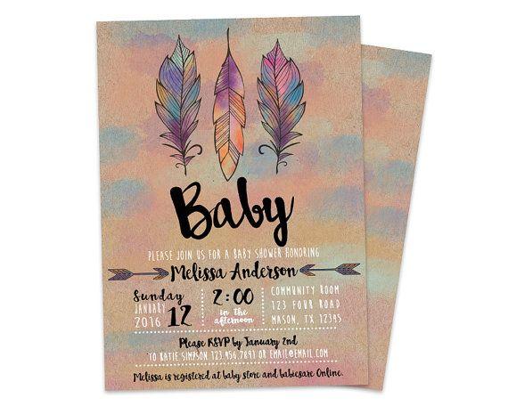 best 25+ bohemian baby showers ideas on pinterest | bohemian baby, Baby shower invitations