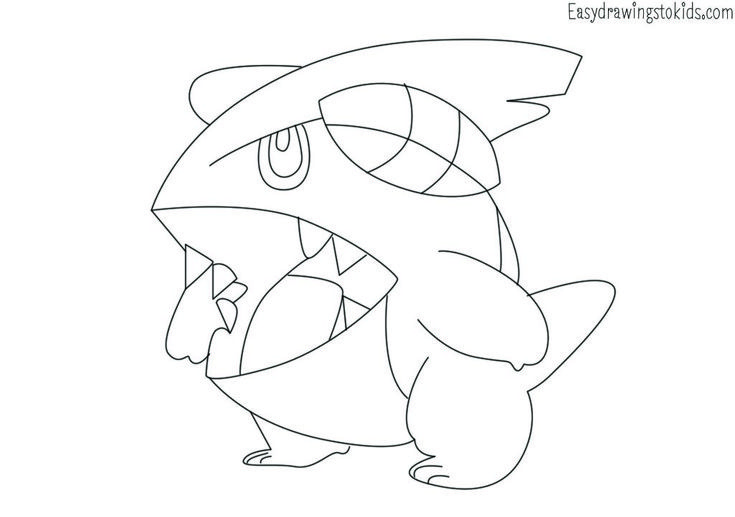 Gible Pokemon Drawing Pokemon Coloring Pages Pokemon Coloring Coloring Pages