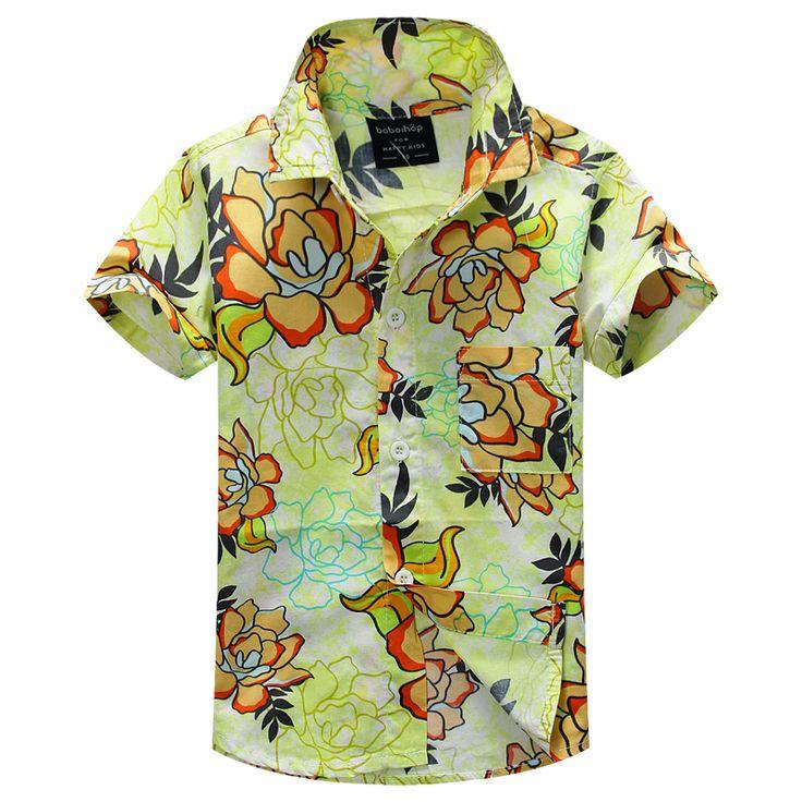 Новое прибытие цветочный рубашка гавайская рубашка гавайская рубашка для детей 1626