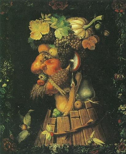 An analysis of autumn by giuseppe arcimboldo an oil on canvas painting