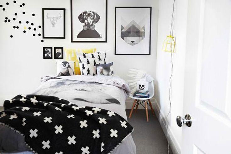 Camera Da Letto In Bianco E Nero su Pinterest  Arredamento camera da ...