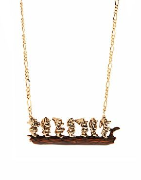 Disney Couture 7 Dwarves Necklace