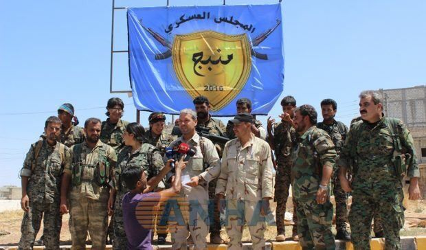 #SDF Commander Adnan Abo Amjad says that 90% of #Manbij is captured & offers #IS free passage if civilians are freed