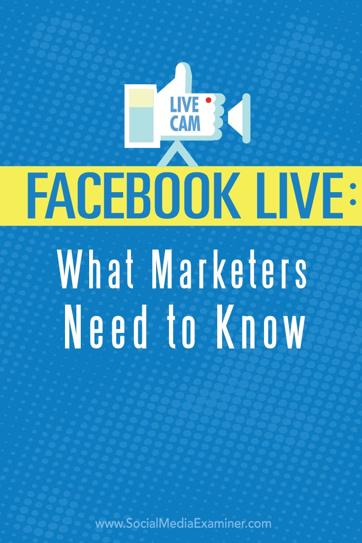 Have you heard of Facebook Live video?  Facebook Live lets you connect with your fans, friends and followers by sharing real-time video of what you're seeing and doing.  In this article you'll discover how to broadcast with Facebook Live and use Live video in your marketing. Via @smexaminer.