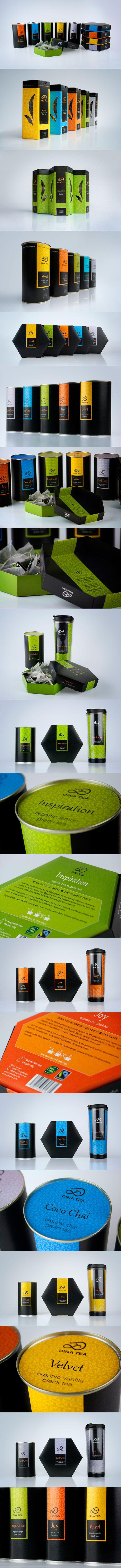 Dina Tea packaging via Behance PD