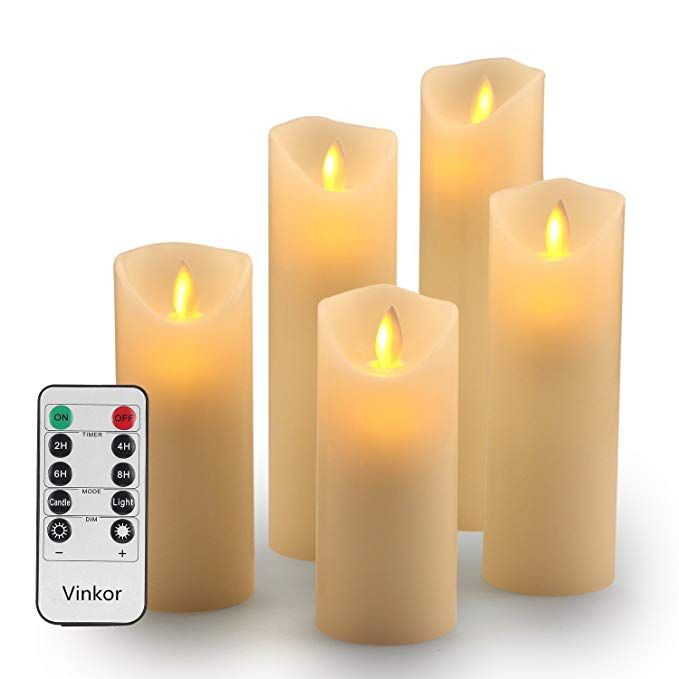 Amazon Com Vinkor Flameless Candles Battery Operated Candles Set