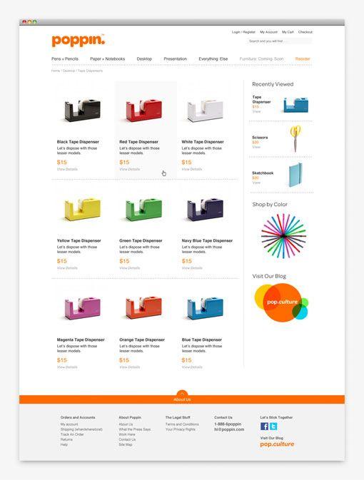 Web design poppin.com