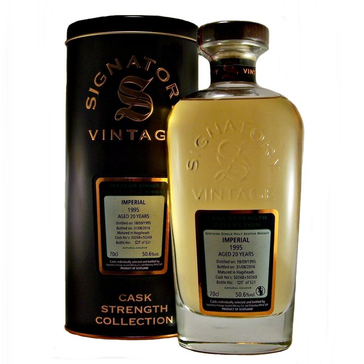 Imperial 1995 Vintage 20 year old Single Malt Whisky Signatory available to buy online at specialist whisky shop whiskys.co.uk Stamford Bridge York