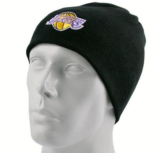 adidas Los Angeles Lakers Black Knit Beanie Cap