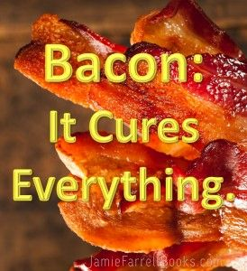 Bacon cures everything | Bacon joke | Bacon quotes | Happiness