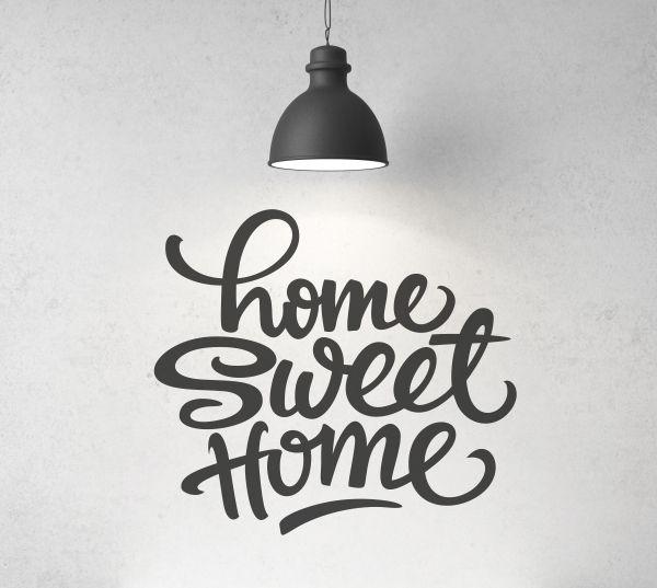 Vinilo decorativo con la frase Home Sweet Home. Masquevinilo.com