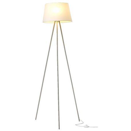 Simpel men ack så snygg! Mycket minimalistisk golvarmatur med textilskärm, metallben och strömbrytarförsedd kabel.