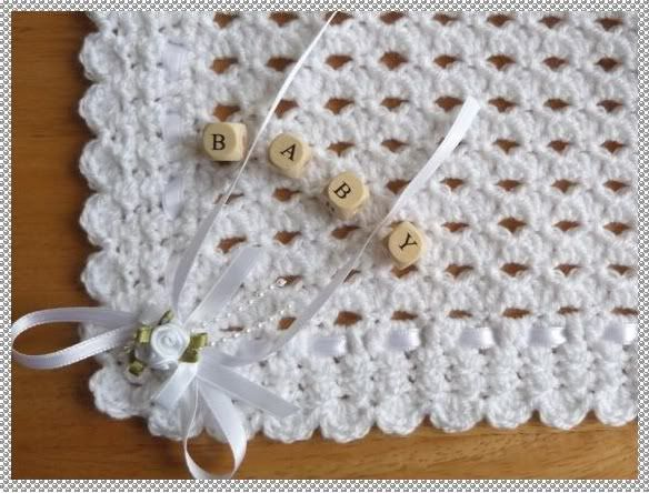 Free Crochet Christening Blanket Patterns Details about ...